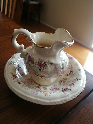Mini brand new wash bowl and jug. Victorian looking. Home. Country
