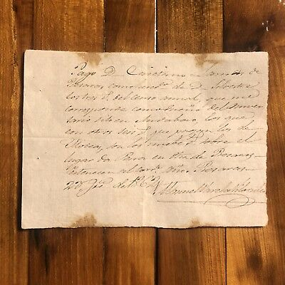 Rare Letter From The 1800's Original Paper Document Manuscript Antique Old Real