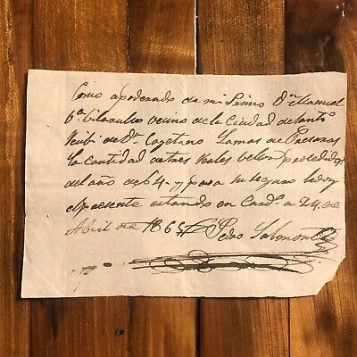 Rare Letter From The 1800's Original Paper Document Manuscript Antique Old