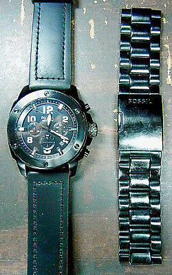 """FOSSIL""""Chronograph"""" Men's 10-ATM Quartz Stainless Dive Watch-RUNS-FREE SHIPPING!"""