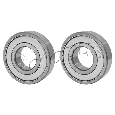 2 Pcs Premium 6001 ZZ  ABEC3 Metal Shields Deep Groove Ball Bearing 12x28x8mm