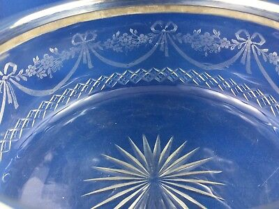 Exquisite  Antique Horace Woodward & Co Etched Glass Bowl