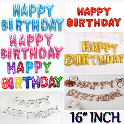 """Self Inflating 16"""" INCH Foil Number & Letters BALLOONS Happy Birthday Ballons"""