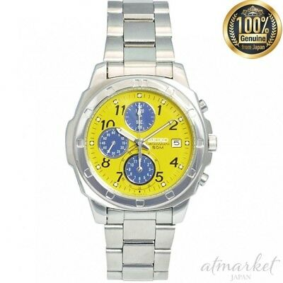 NEW SEIKO Watch imported model Yellow SND409 Men's in Box genuine from JAPAN