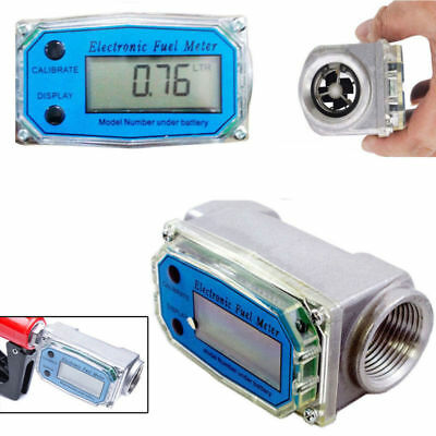 "BSPT/NPT 1"" 200L/MIN Turbine Digital Diesel Fuel Flow Meter Oval Gear Flow Gauge"