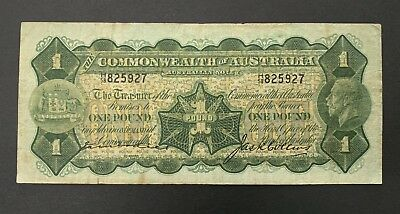 1926 Commonwealth Australia George V Kell Collins One Pound Banknote