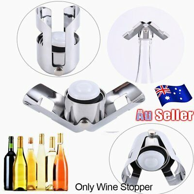 Reusable Stainless Steel Champagne Stopper Sparkling Wine Bottle Plug Sealer G2