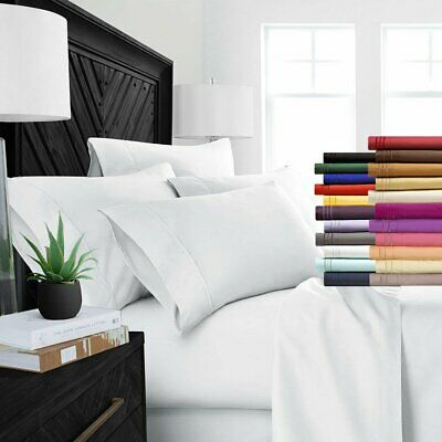 6 Piece Bedroom Bed Sheet Set 2100 Thread Count Egyptian Comfort Deep Pocket US