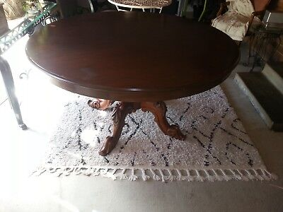 Antique Dining Table Large Round 6 Seater