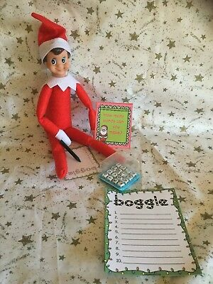 Handmade Xmas Elf Accessories / Word Boggle Compatable with Elf on the Shelf