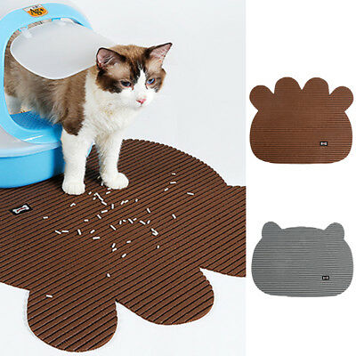 Durable Non slip Cat Pet Dog Puppy Clean Floor Feeding Litter Trapping Mat Pad