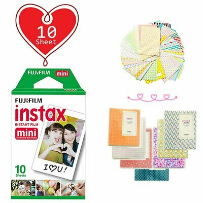 10 Sheet - Fujifilm Instax Mini White Film for Fuji Mini 9 8 90 70 Polaroid AU