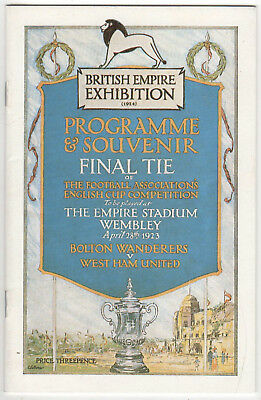 Reproduction 1923 FA Cup Final Programme Bolton v West Ham Empire Stadium