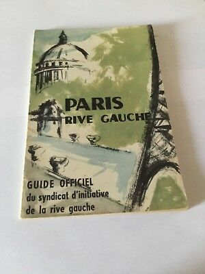 Guide officiel Paris rive gauche  1958