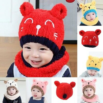 Baby Boy Knit For Girl Winter Hat Toddler Kids Warm Beanie Cap 2018 High Quality