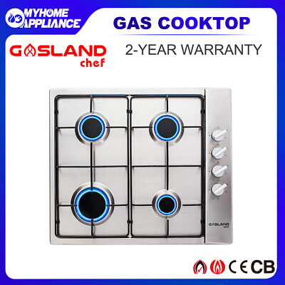GASLAND chef Gas Cooktop Stainless Steel 4 Burners Flame Failure Stove Enamel