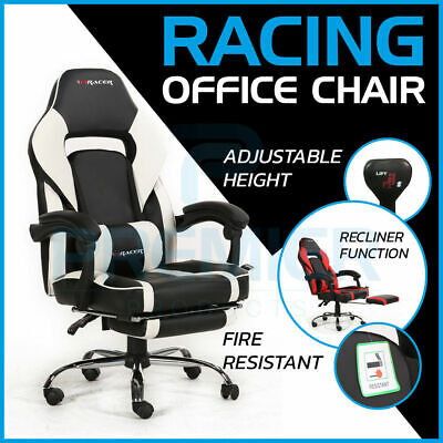 F1Racer Racing Gaming Sports Swivel Pu Leather Office Reclining Computer Chair