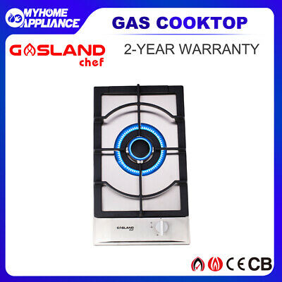 GASLAND chef Stainless Steel Gas Cooktop Cast Iron Trivets 30CM 2 Burners Stove
