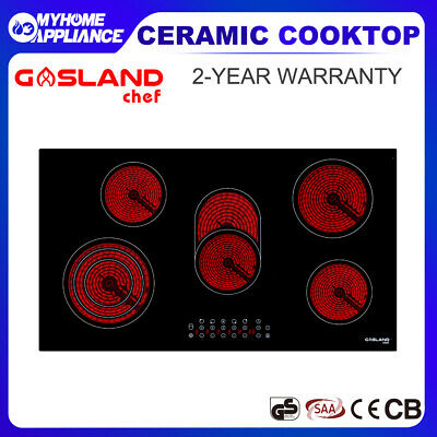 GASLAND chef Ceramic Cooktop 5 Zones Cooker Glass Touch Electric Burners 90CM