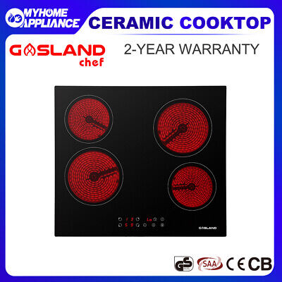 GASLAND Chef Ceramic Cooktop Glass 60CM Electric Kitchen Burner 4 Zone Hob Black