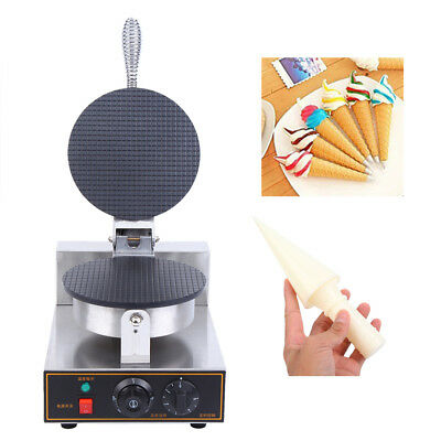 110V Commercial Electric Nonstick Ice Cream Cone Machine Waffle Egg Roll Maker