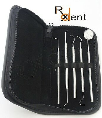 Hygienist Dental Examination Kit Plaque Remover Tartar Filling Instruments KTA1