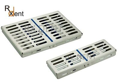 Sterilization Cassette for 5/10 PCS with Silicone Inserts, St. Steel Comdent