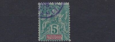 French Colonies French Polynesia 1892  Sg 4  5C  Green/pale Green   Used