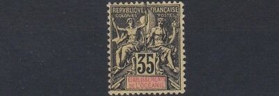 French Colonies French Polynesia 1900 - 07   Sg 18  35C  Black & Yellow   Mh
