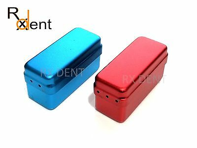 Aluminium Endodontic Box With 72 Holes Stand Red Blue Lima Endo Box Comdent® CE