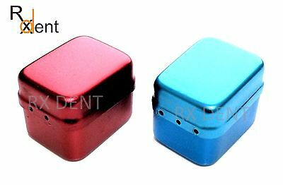 Aluminium Endodontic Box With 30 Holes Stand Red Blue Lima Endo Box Comdent® CE