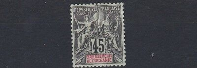 French Colonies French Polynesia 1900 - 07   Sg 19  45C  Black & Green    Mh