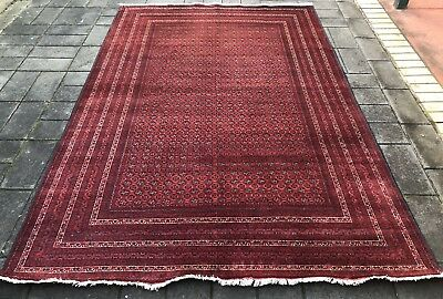 Original Handmade Fine Persian Afghan Rug Large Carpet 300 X 200 Cm Antique Rug