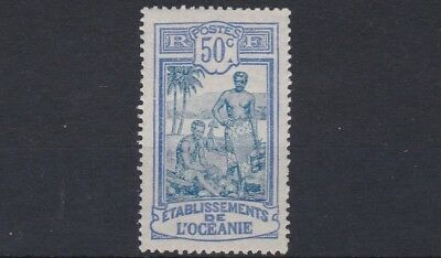French Colonies French Polynesia 1922 - 30   Sg 55  50C  Black  & Ultra  Mh