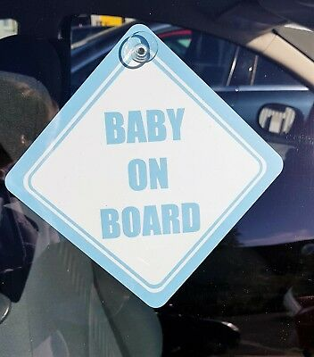 Baby On Board Car Sign Window Suction Cups Colours