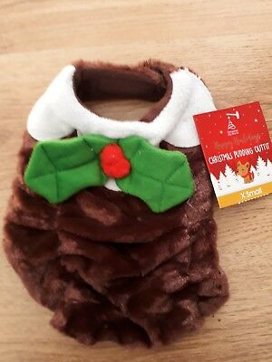 BN Dogs Christmas pudding  Outfit extra Small