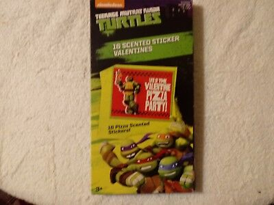 Teenage Mutant Ninja Turtles Valentine Cards for Kids with Pizza Scented Sticker