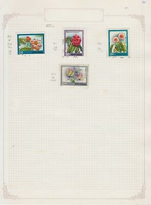 INDIA. 1977. .Collection on Old Album Page stamps removed for shipping..