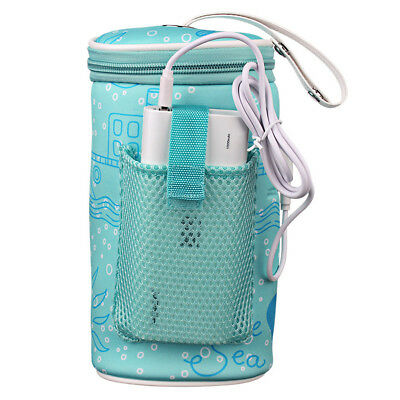 Portable USB Heating Baby Milk Water Bottle Warmer Bag Travel Heater Insulation