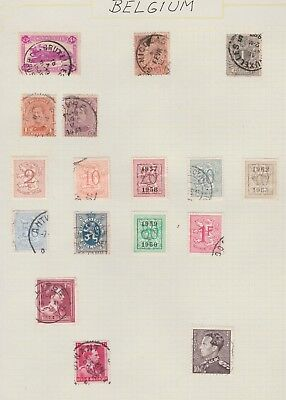 BELGIUM Collection 1920 1967 Early Issues, Clear Postmarks USED as per scan #