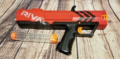 Blaster Toy Gun Nerf Rival Apollo XV700 Spring Action 7 High Impact Rounds Red