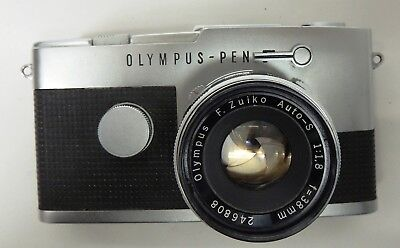 USED OLYMPUS PEN FT 35mm HALF FRAME CAMERA WITH 38mm f1.8 LENS - AS SEEN