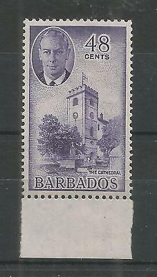 BARBADOS 1950 GEORGE 6TH 48c VIOLET SG,279 M/MINT LOT 325B