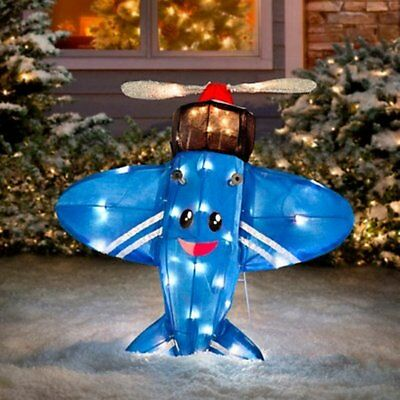 rudolph misfit toy airplane 24 3 d led tinsel outdoor christmas decor yard art