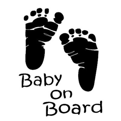 Baby on Board In Car Child Window Bumper Sign Decal Vinyl Back Screen Sticker UK