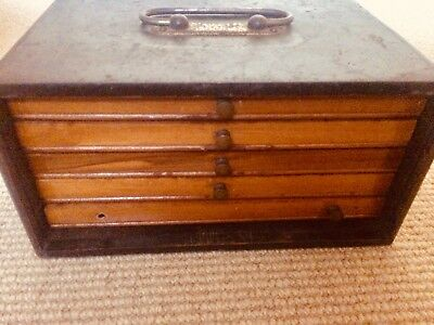 Antique Mahjong Set - early 1900's. Rare Lift Up Drawer - Wooden Box Set