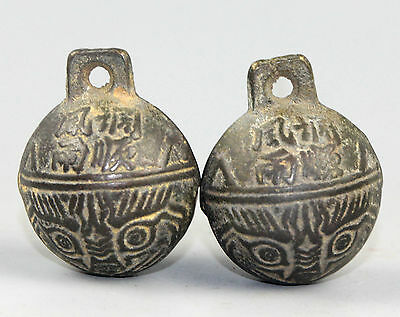 A Pair Ancient Chinese Bronze Big Bell