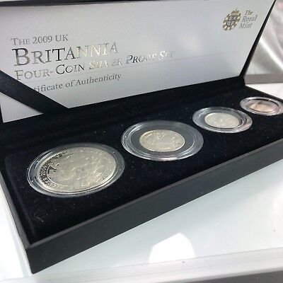 2009 Four Coin Silver Proof UK Britannia Set