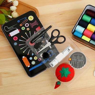 Mini Beginner Sewing Kit Case Set Supplies Adults Kids Home Travel Campers