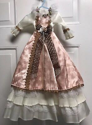 Antique/ Vintage Three-Tiered Victorian Doll Dress, 23 Inches